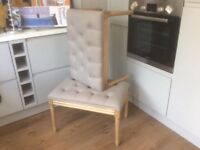 2 grey stools