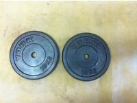 20kg 2x10kg CAST IRON WEIGHTS