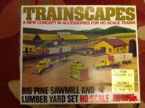 Cox HO Scale Big Pine Sawmill & Lumber Yard Train Set