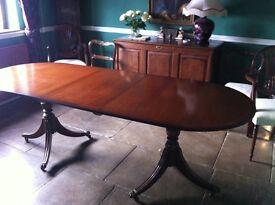 Extending Regency Style Mahogany Dining Table