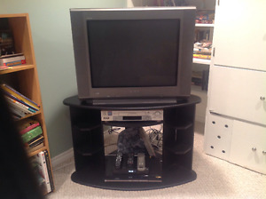 TV, DVD, VCR and stand
