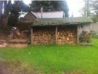 Split seasoned hardwood