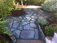 Local slate patios, walkways, fire pits!!
