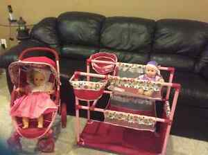 doll stroller and bed Cambridge Kitchener Area image 2