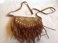 Suede ladies shoulder bag used £2