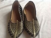 Indian Pakistan Shoes Beads Embroidered Shoes Punjabi Handmade Arabian Shoes size 5 kids new £4