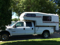 F-350 lariat Ford truck with kodiac 9 1/2 ft camper