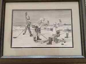 Bernie Brown framed Hockey Prints Strathcona County Edmonton Area image 2