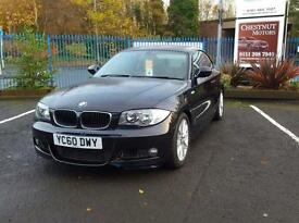 BMW 118 2.0 Diesel 2010 M Sport Coupe In Black