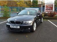 BMW 118 2.0 Diesel 2010 M Sport Coupe In Black