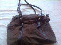 Ladies shoulder brown bag used £2