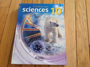 French immersion / French school Science grade 10 textbook