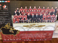 1998 women's hockey team canada mounted picture