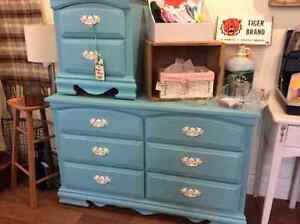 Painted dresser and side table