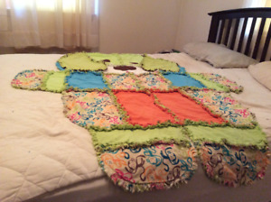 dog shaped childrens blanket flannel