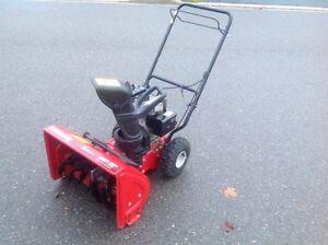 yard machine snowblower 5 5 hp 22 inch