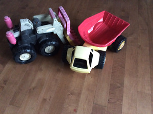Tonka tractor and truck