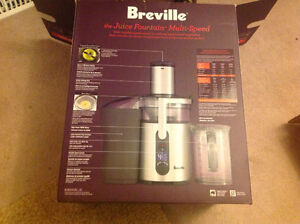 BREVILLE Multispeed Juicer used one day only.