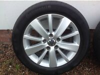 "16"" VW (2012) MK6 GOLF MATCH ALLOYS PCD 5X112"