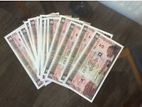 George Best Commemorative Bank Notes UNC (30 Consecutive Number's!!) RARE