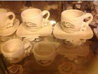 Brand new 24 items coffee cups & plates £30 set