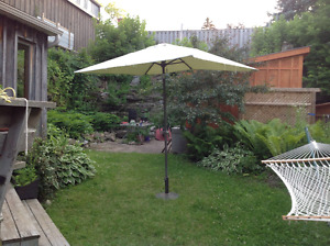 Patio Umbrella and Stand LOWER PRICE