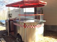 Custom made stainless steel concession cart