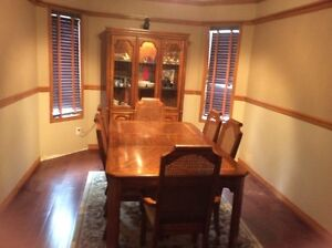 Beautiful dining table and buffet