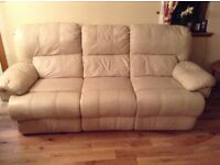 Leather Sofa Suite ( 3 seater & 2 seater ) - Used