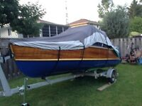 Cedar Strip Boat & Motor