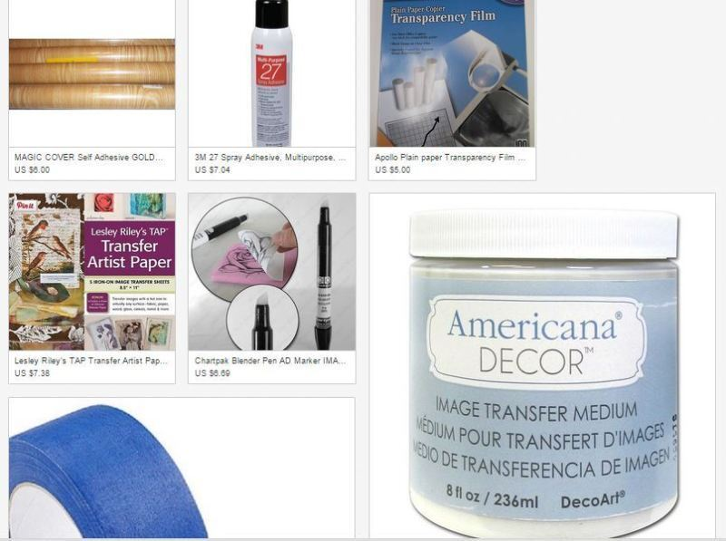 shop for your supplies on Ebay