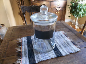 Big glass jar with cover