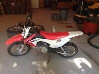 Honda CRF110 dirt bike