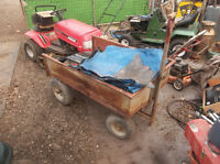 riding lawnmower lawnmowers wagon trailer