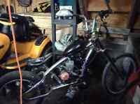 Chopper bike with 49cc motor