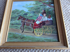 Local folk art painting