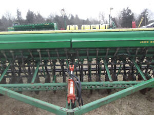 JD 8300 Seed Drill with Grass Seed