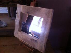 Driftwood Framed Acrylic Mirror