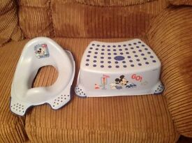 Mickey Mouse toilet training seat & step