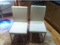 WHITE DINING CHAIRS - DWELL