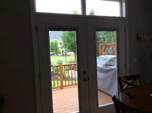 French Style Patio Doors Double pane glass