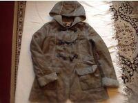 Next Ladies coat brown colour size: 10 used £2