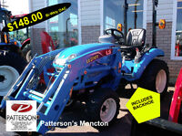 TRACTOR,LS 2025,(4X4),DIESEL,WITH BACKHOE,MONCTON