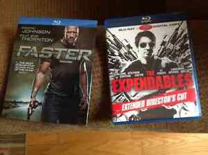 FASTER, THE EXPENDABLES, 5 MINUTES TO HEAVEN BLU-RAY LIKE NEW!