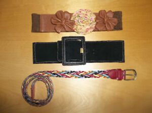 LADIES BELTS - SIZE SMALL (EXCELLENT CONDITION!)