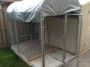 Dog kennel with cover for sale