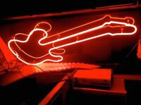 Neon Electric Guitar Sign