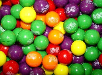 2lb Nerds Gumballs Bulk 1 Candy Fill Bubblegum Fruit Vend Oak Bubble Gum Balls