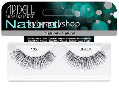 40 Pairs Ardell Natural 105 Fashion Lash Fake Eyelashes Black