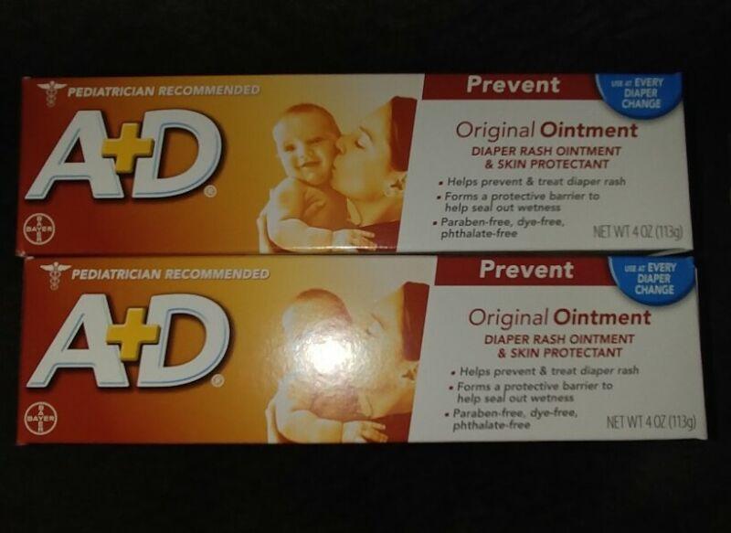 4 boxes A&D Original Diaper Ointment, 4 Ounce
